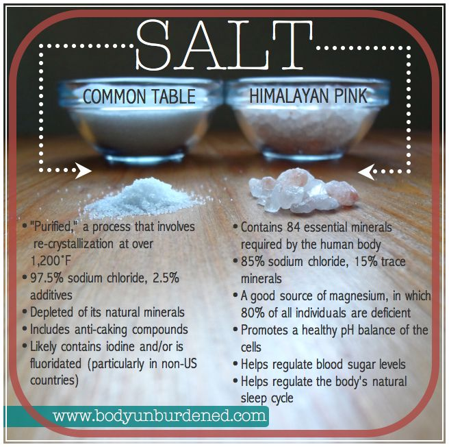 Pink himalayan salt contains 84 minerals that are essential for a healthy body. Food, diet, and nutrition.