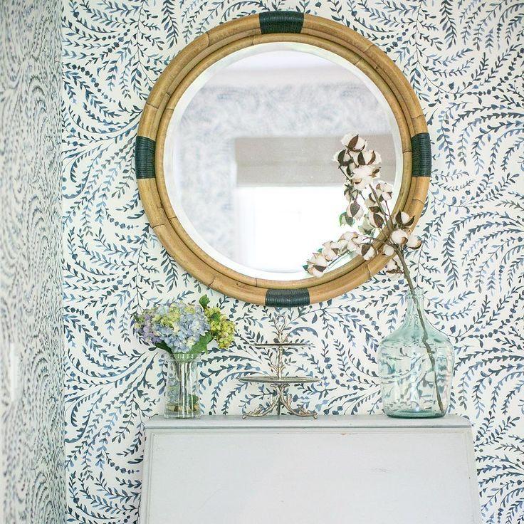 """""""Serena and Lily wallpaper and mirror #serenaandlily ..."""