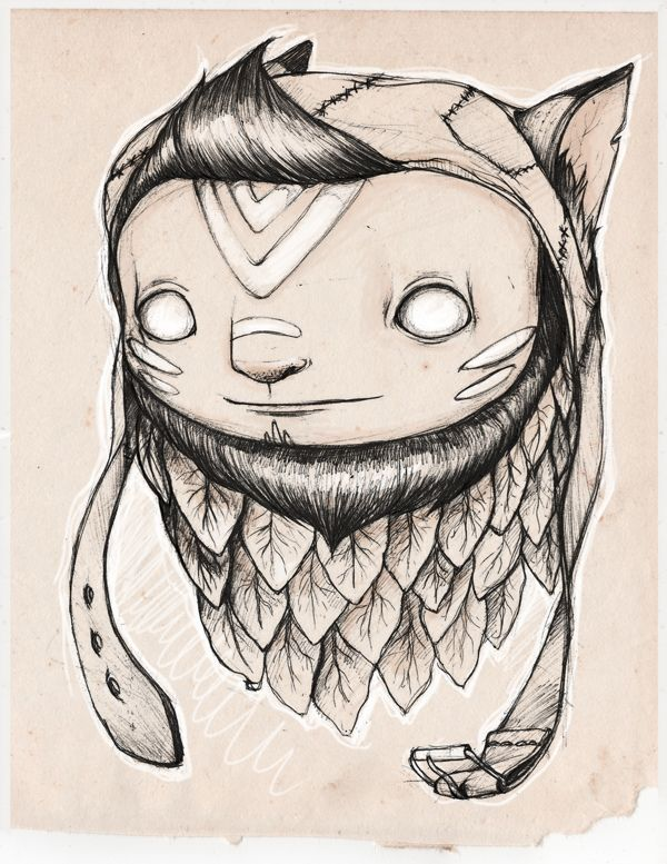 Foxes  snow doodles.. by luiza kwiatkowska, via Behance