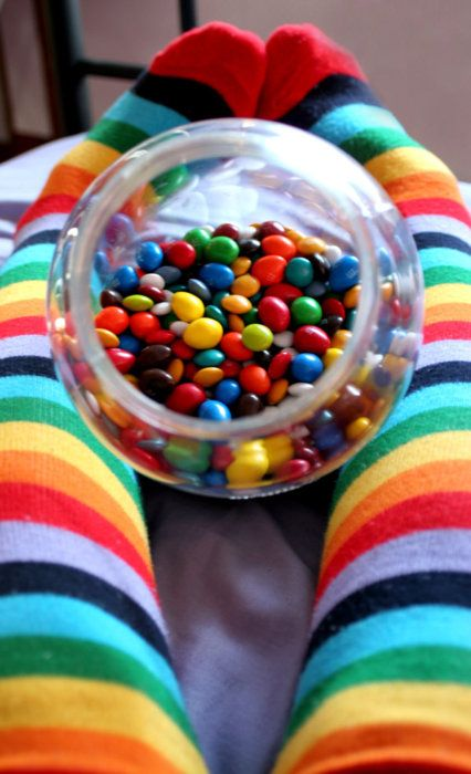 Skittles & Socks - Skittles were first made commercially in 1974 by a British company. They were first introduced in North America in 1979 as an import confectionery. In 1982, domestic production of Skittles began in the United States.