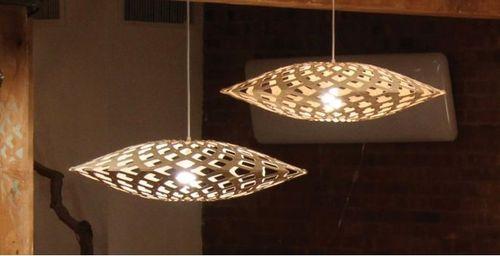 Pendant lamp / design / bamboo / non-treated FLAX David Trubridge Design
