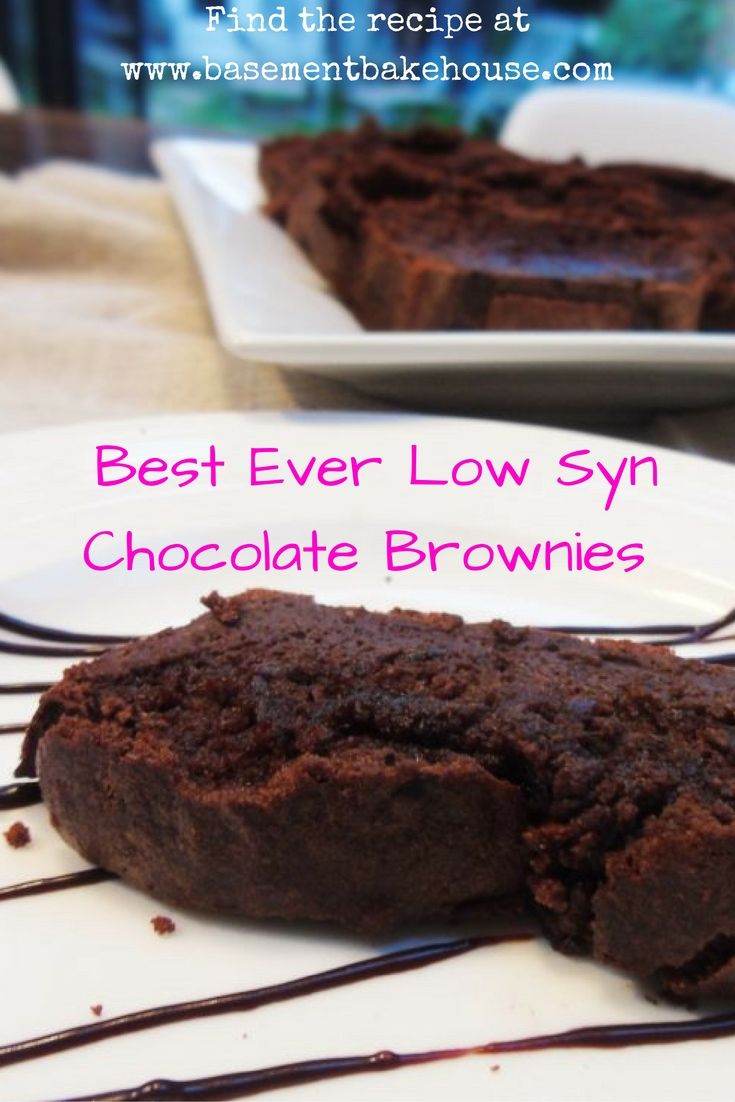 Best Ever Low Syn Chocolate Brownies - Slimming World - Basement Bakehouse - Low Syn - Healthy Baking