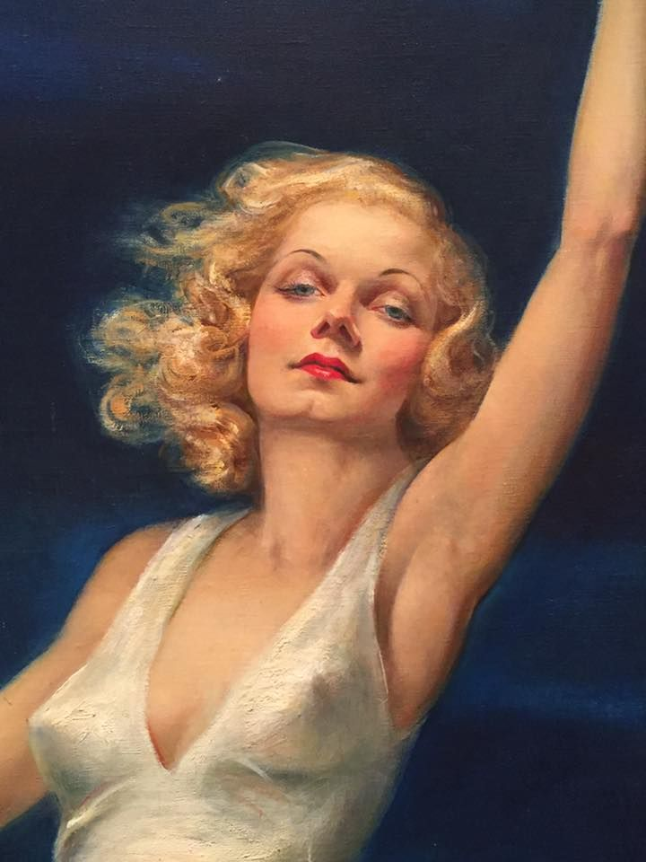 "Jean Harlow ""Farewell to Earth"" by Tino Costa, 1937 (detail)."