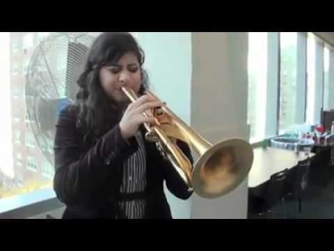 Linda Briceño from Venezuela with a Monette Trumpet