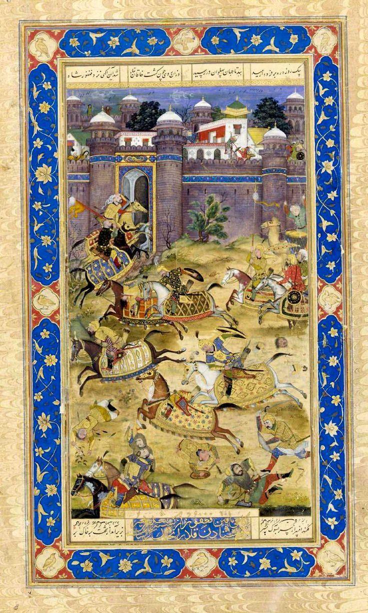 Nariman Kills the Son of the Khaqan of Chin, attributed to Govardhan Circa 1610