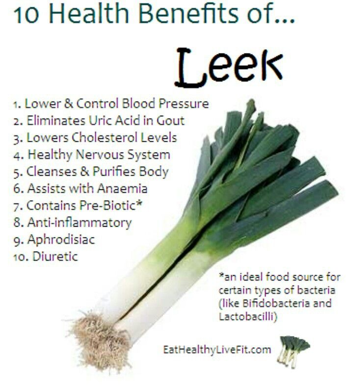10 health benefits of leek