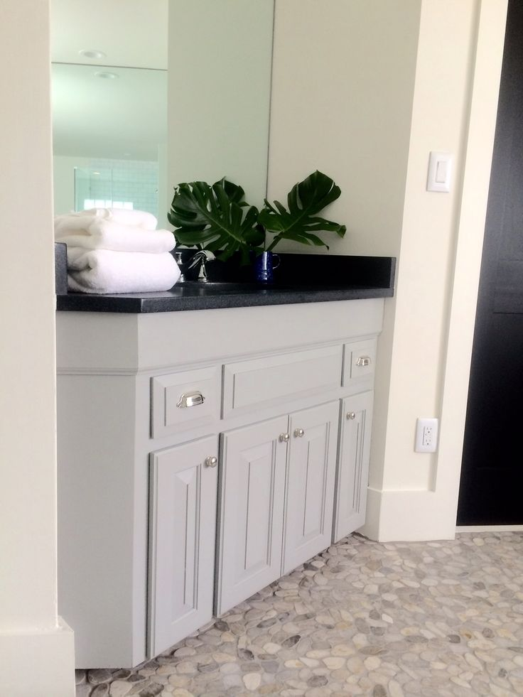 Lake House Master Bathroom: Before & After. Bathroom cabinet height ...