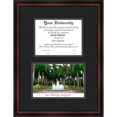 University of Miami 8.5 inch x 11 inch Diplomate Diploma Frame, Multicolor