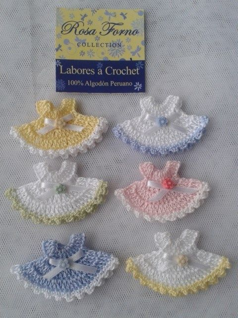 #Crochet www.rosafornocollection.com Medidas 6 x 3.5 cm. Clothing and accessories exclusive handmade crochet technique for your baby with the highest Peruvian cotton. Made with love for your baby.