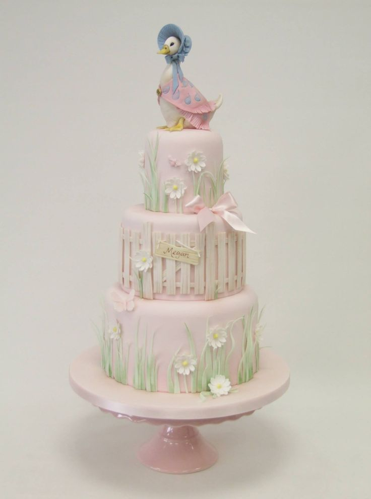 Jemima Puddle-duck celebration cake - For all your cake decorating supplies, please visit craftcompany.co.uk