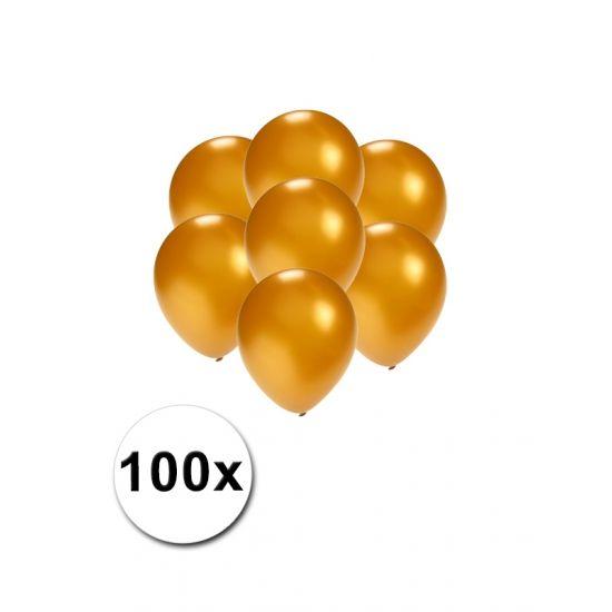 Mini ballonnen goud metallic 100 stuks  Kleine ballonnen goud metallic. Deze kleine ballonnen zijn verpakt per 100 stuks en hebben per stuk een formaat van ongeveer 13 cm.  EUR 3.95  Meer informatie