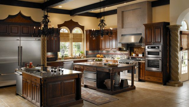 rustic refined decor | Jenn-Air Refined Rustic – traditional – major kitchen appliances ...