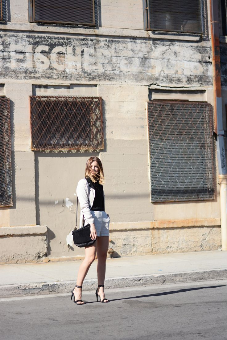 Los Angeles street style, Animal Behavior sustainable clothing, Power suit outfit