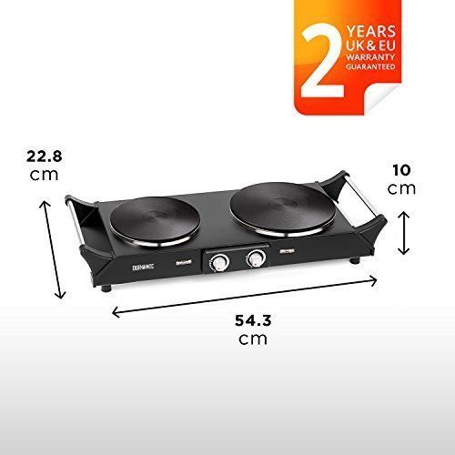 COOKING BLACK BOILER HOT PLATES SMALL KITCHEN CAMPING HOLIDAYS FREE UK DELIVERY