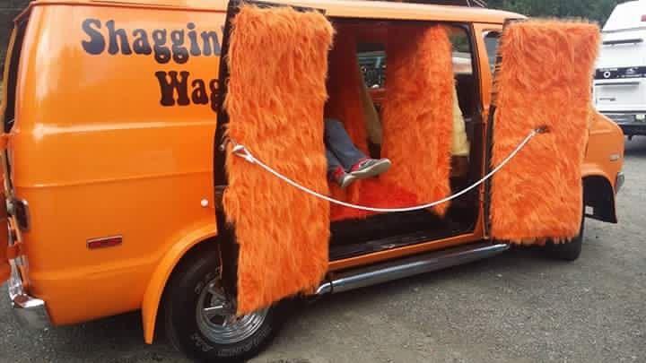 """""""Shaggin Wagon"""" Custom 70's  van"""
