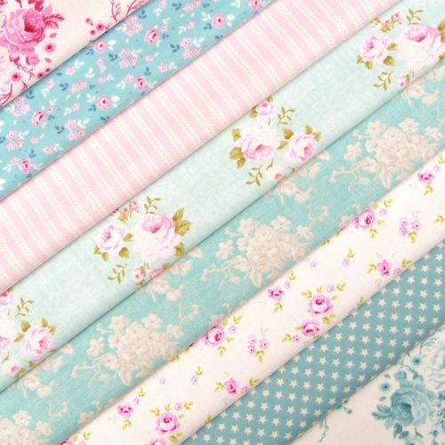 Aqua and Pink ~ Fabric