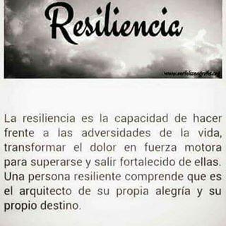 Resiliencia... superación...fortaleza...inspiración...