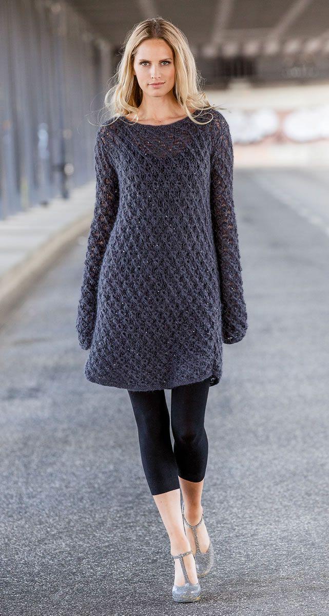 Lana Grossa KLEID Dito Paillettes - FILATI Handstrick No. 61 - Modell 26 | FILATI.cc WebShop