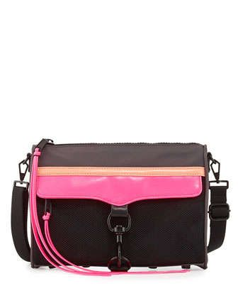 MAC Nylon Crossbody Bag, Black Multi by Rebecca Minkoff at Neiman Marcus.