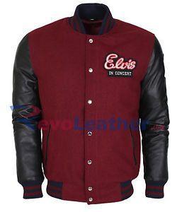 Elvis Presley King Of Rock Vintage Celebrity Black Varsity Letterman Jacket