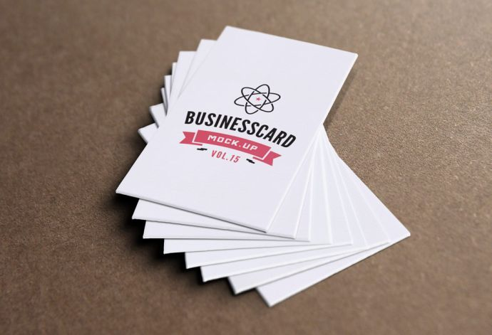 thick business card - Free Business Cards Mockup PSD