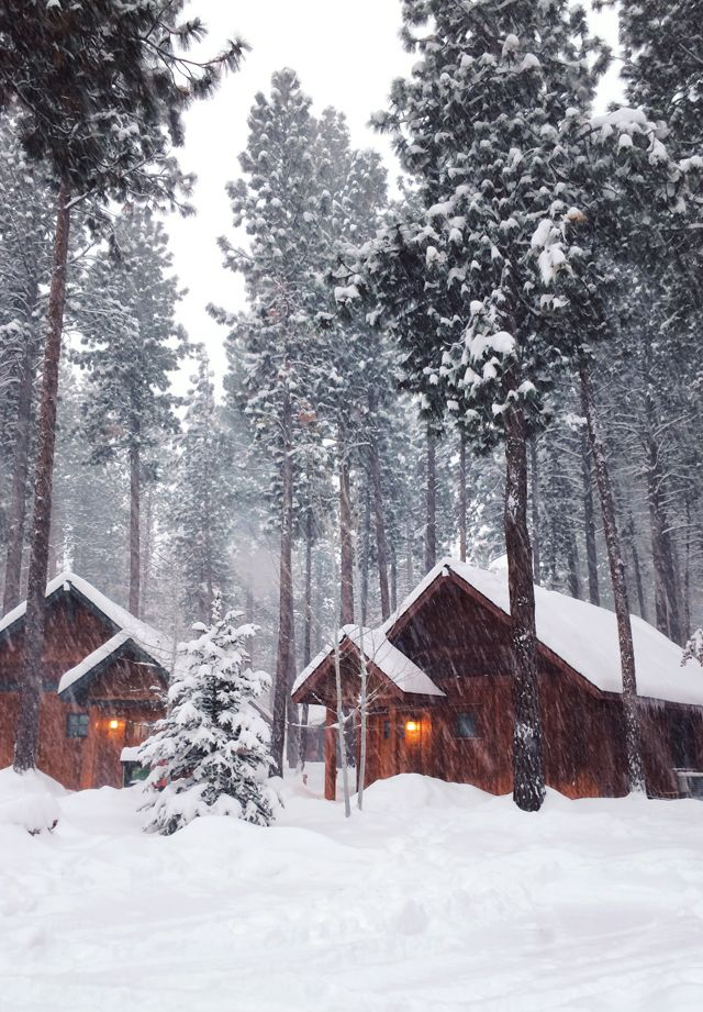 Cabins in the Snow by Lovely Clusters - Rachel Follett - http://instagram.com/lovelyclusters
