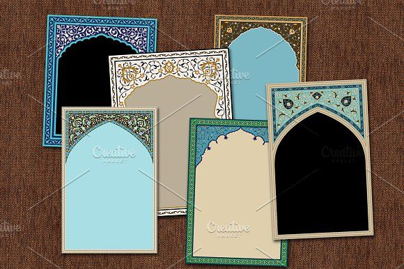 6 Traditional Arabic Arches Traditional Vector Illustration Arch