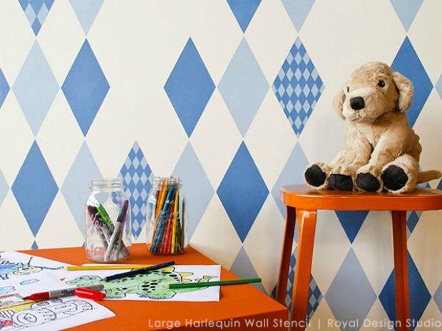 Kids Bedroom Stencils 266 best nursery & kid's room stencils images on pinterest | wall
