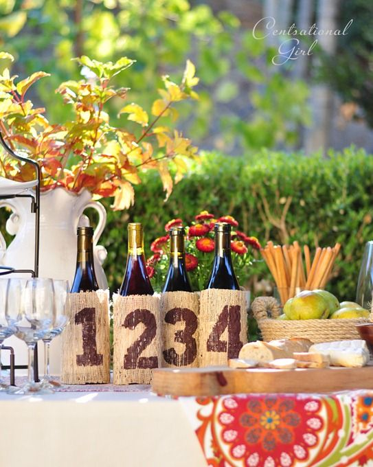 cute idea for a wine tasting party