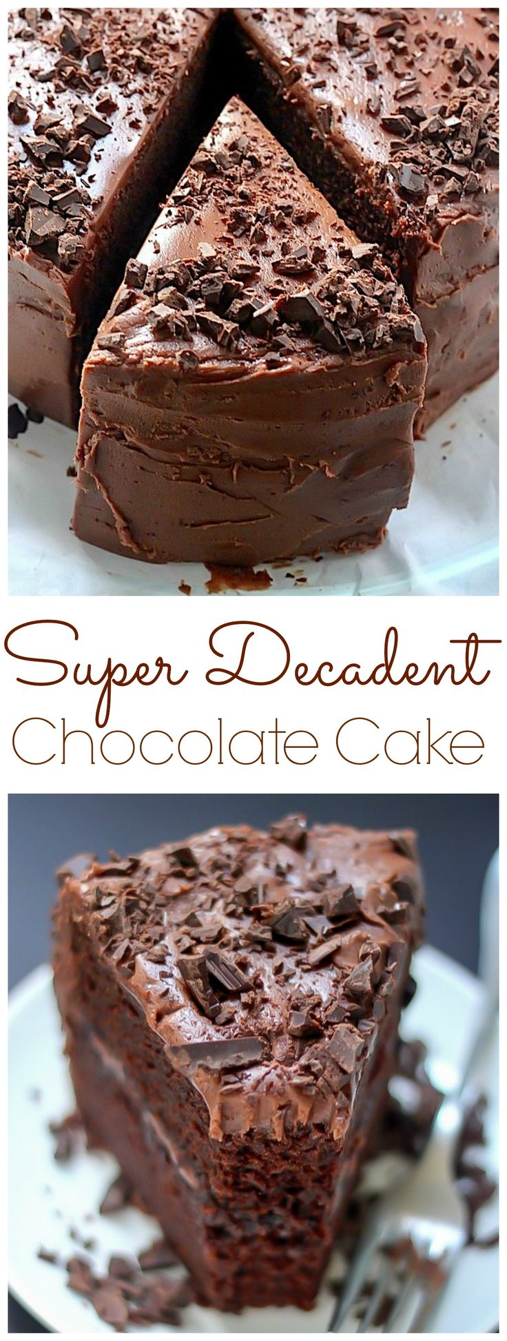 Super Decadent Chocolate Cake With Fudge Frosting Recipe - (bakerbynature)