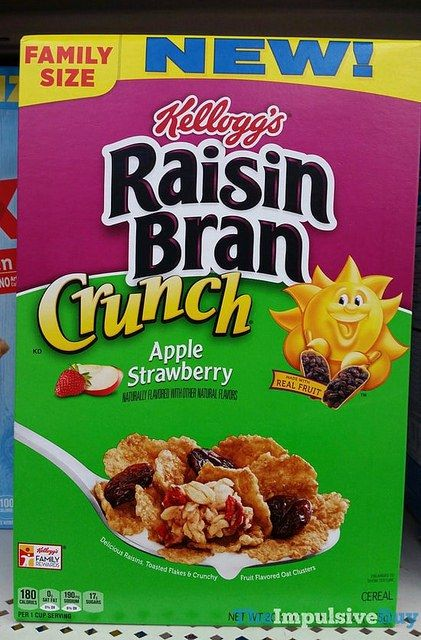 Kellogg's Raisin Bran Crunch Apple Strawberry Cereal