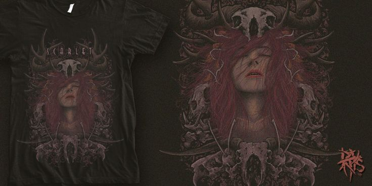 """""""Scarlet  [ FOR SALE ]"""" t-shirt design by RectopusArt"""