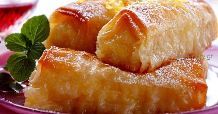 Custard Filled Pastry Rolls-Galaktoboureko, Custard Filled Pastry Rolls-Galaktoboureko Recipes,