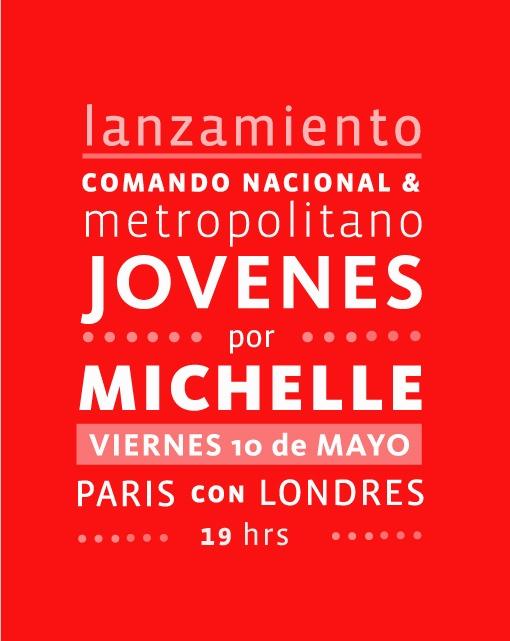 #Michelle Bachelet , Lanzamiento Comando Jóvenes #ParisConLondres