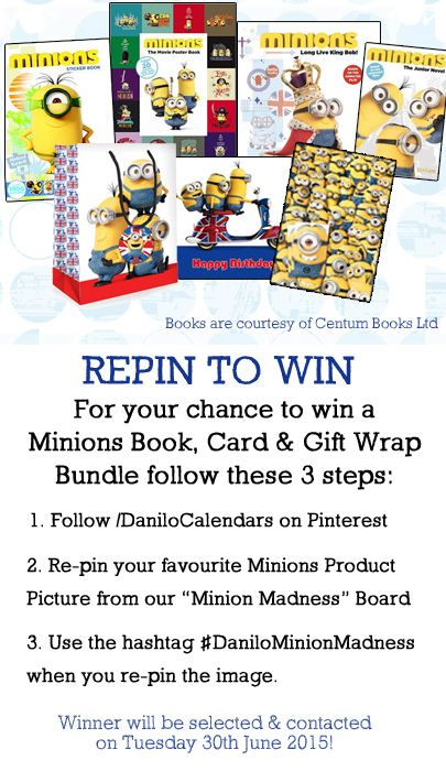 Repin #Competition to Win Bundle of #Minions Goodies. Repin favourite Minion image from our Minion Madness board using #DaniloMinionMadness by 30th June 2015