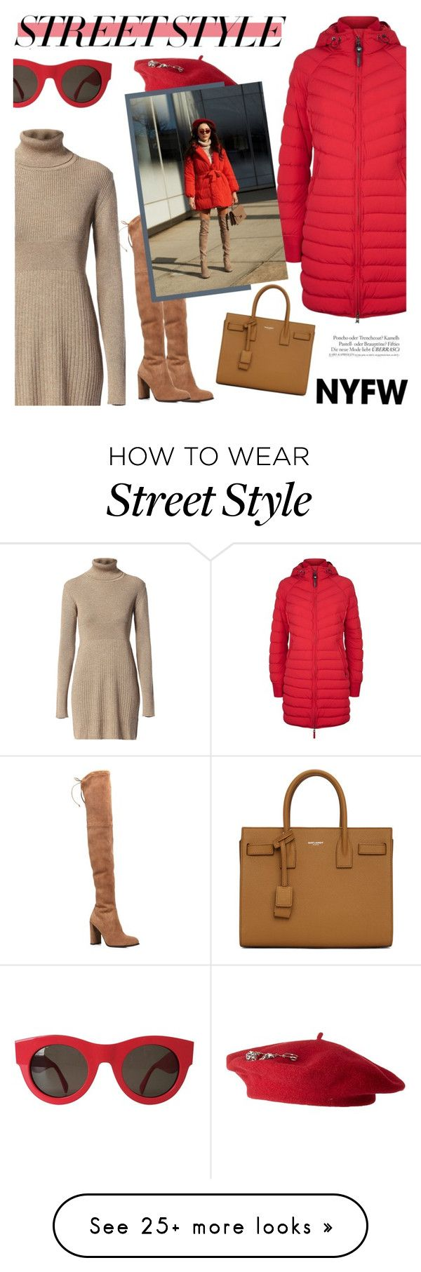 """street style"" by freshprincesse on Polyvore featuring Parajumpers, Diesel, Stuart Weitzman, Yves Saint Laurent, Echo Design, CÉLINE, contestentry, nyfwstreetstyle and polyvoreset"