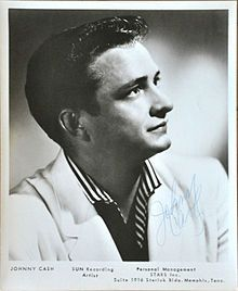 Johnny Cash Birth nameJ. R. Cash BornFebruary 26, 1932 Kingsland, Arkansas, United States DiedSeptember 12, 2003 (aged 71) Nashville, Tennessee, United States GenresCountry, rock and roll, gospel OccupationsSinger-songwriter, musician, actor InstrumentsVocals, guitar Years active1954–2003 LabelsSun, Columbia, Mercury, American, House of Cash, Legacy Recordings Websitejohnnycash.com