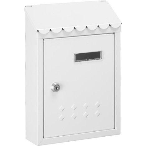 Boîte aux lettres DECAYEUX Thésée rénovation blanc en acier