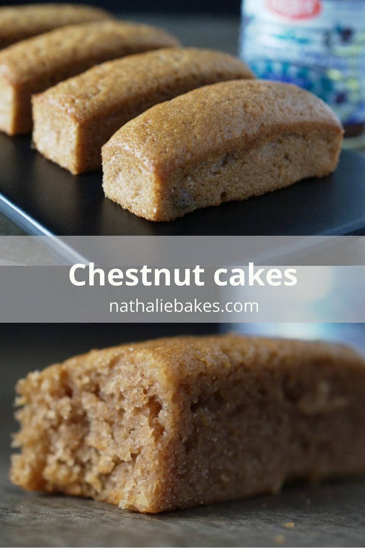 Easy and quick to make gluten-free chestnut cakes recipe: all it takes is 5 ingredients and 10 minutes of preparation time. Simple and delicious. | nathaliebakes.com