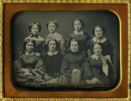 (c.1854) Ingham College in Le Roy,  New York - Class of 1854