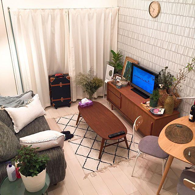6畳 8畳でも快適 小スペースを充実させたお部屋アイデア インテリア 部屋 8畳 インテリア