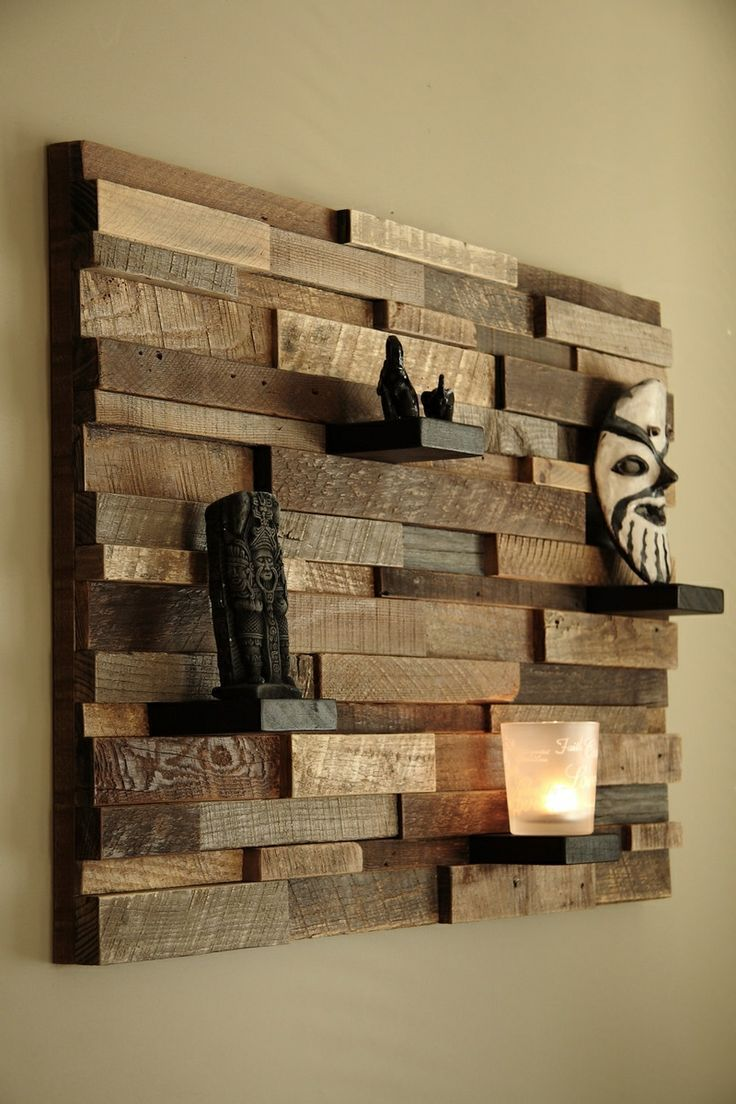 estanteria fabricada con sobrantes de madera