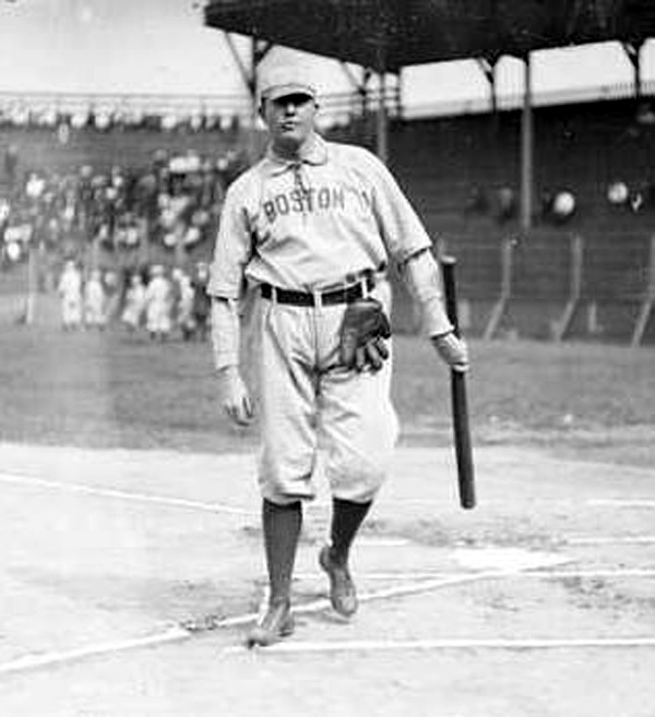 Cy Young - Boston Pilgroms 1901 to 1908 (love they way he hangs his glove on his belt!)