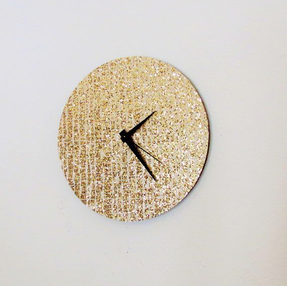 Wall Clock Retro Glitter Clock Gold Clock Home and by Shannybeebo, $50.00