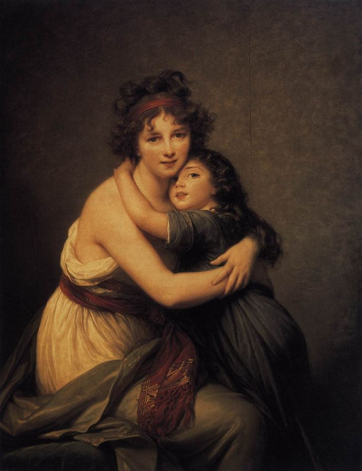 Self Portrait with Daughter by Elisabeth Vigee-Lebrun (1755-1842), French
