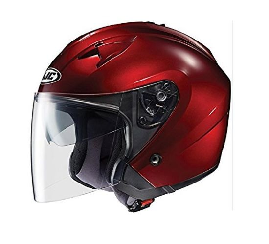 The HJC IS-33 Motorcycle Helmet has an advance polycarbonate composite shell and AccuSight anti-fog face shield featured as Top Ten Best Motorcycle Helmets by Bike Gear Up. #bestmotorcyclehelmetreviews