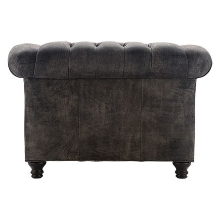 """Berwick 47"""" Leather Tufted Chair"""