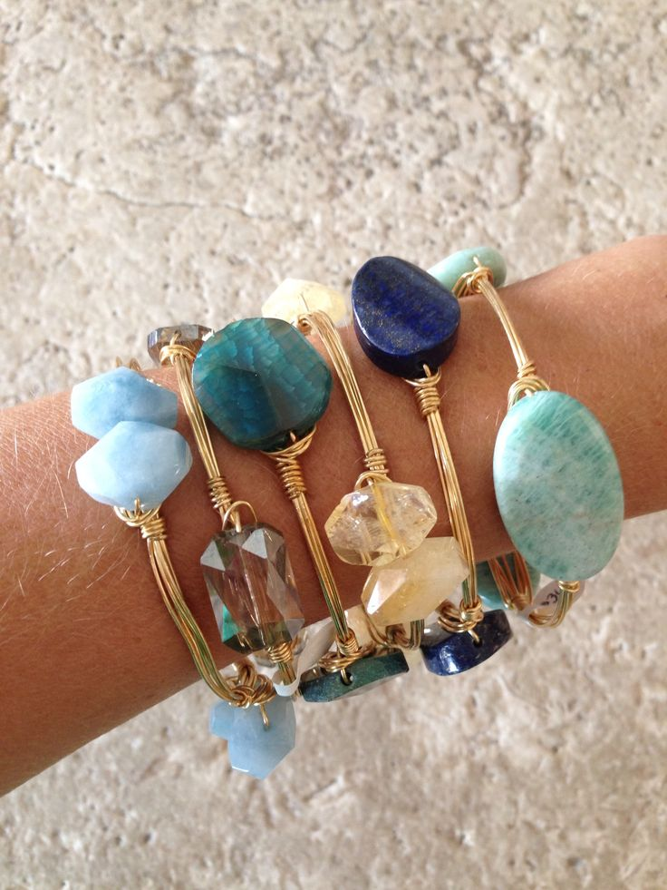 Wire Bracelets There's a bit of wire wrapping involved here, but other than…
