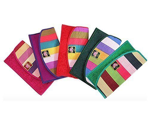 [JOYENN] Korea Traditional Vivid Stripe Embroidery Card/Paper Money Wallet