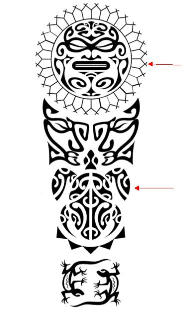 Polynesian Tattoo Symbols and Meanings - Turtle Application Sample